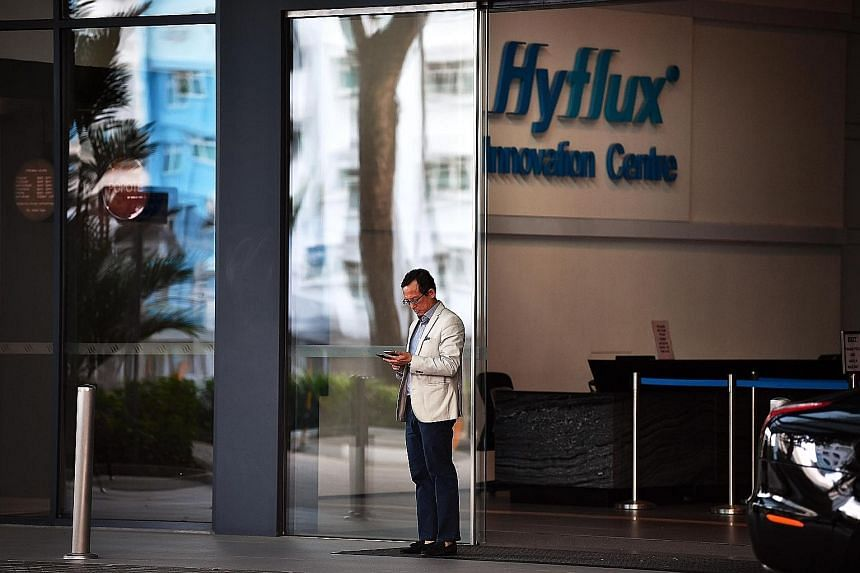 Hyflux says that apart from Utico, it is also in talks with two other parties, one of which is said to be among the world's top 10 largest desalination companies. ST FILE PHOTO