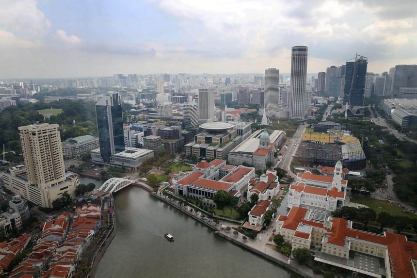 Singapore's civic district seen in a photo taken on May 16, 2019.
