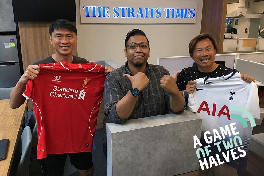 Former Malaysia Cup-winning footballers Lim Tong Hai (left) and Lee Man Hon are Liverpool and Tottenham die-hard fans respectively, and they join podcast host Sazali Abdul Aziz to preview Saturday's Champions League final featuring their favourite te