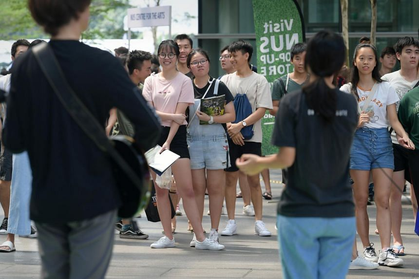 Prospective students at NUS Open House 2019, on March 9, 2019.