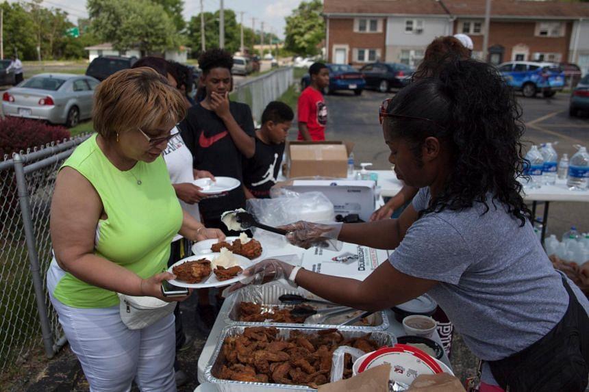 Church members help tornado victims in Dayton, Ohio on May 28, 2019.