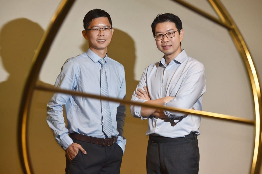 Dr Tam Wai Leong (left) from the Genome Institute of Singapore and Dr Daniel Tan from the National Cancer Centre Singapore are part of the team that found the role of a type of amino acid in cancer.