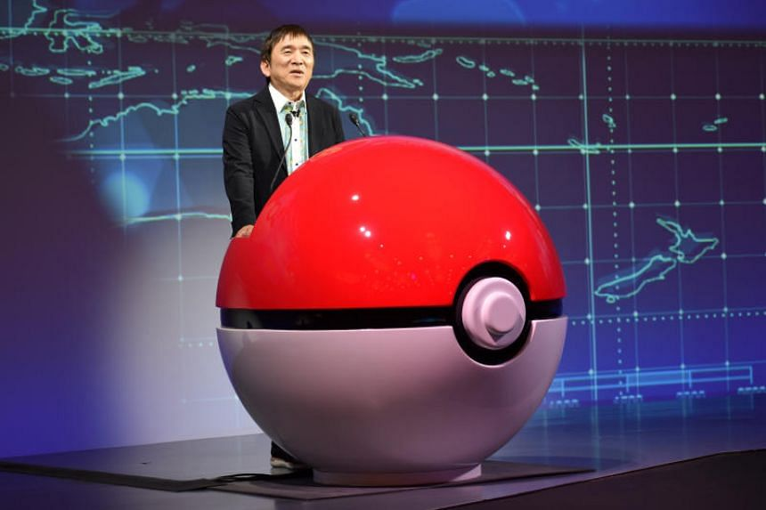 Tsunekazu Ishihara, chief executive of the Pokemon Company, speaks at a news conference in Tokyo on May 29, 2019.