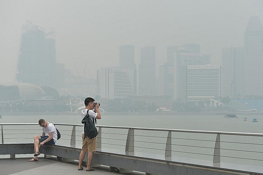 The 2015 haze affected Singapore, Malaysia and parts of Indonesia.