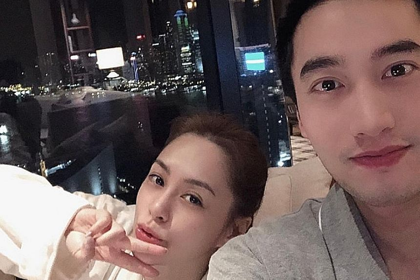 BIRTHDAY TREAT: Hong Kong singer-actress Gillian Chung and her husband, Taiwanese doctor Michael Lai, have further dispelled rumours that their marriage is on the rocks. Chung, 38, married Dr Lai officially last December after they held a wedding ce