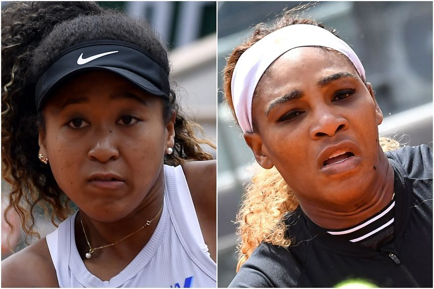 Naomi Osaka (left) and Serena Williams, who are competing in the French Open 2019.