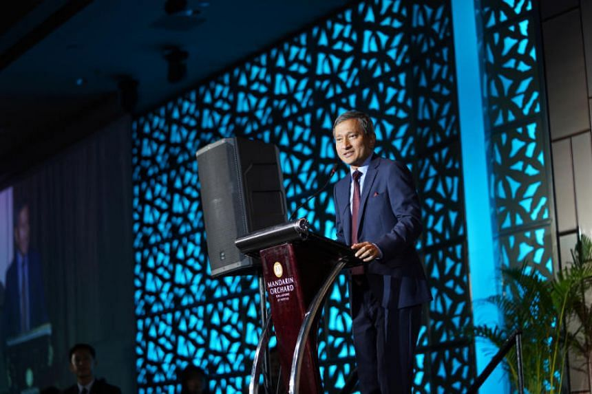 Foreign Minister Vivian Balakrishnan speaking at Focus on the Family Singapore's annual Partnership Dinner on May 30, 2019.