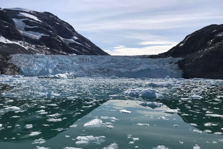 A tidewater glacier in south-east Greenland, in the summer of 2018. When drought hits, ice melt from the Himalayas and the Hindu Kush can account for up to 100 per cent of the water in some of Asia's rivers.
