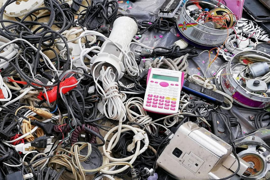 Electronic trashat a flea market in La Paz, Bolivia, on March 3, 2019. According to The Global E-Waste Monitor 2017 Report by the United Nations University, Malaysia generated 8.8kg of e-waste per person in 2016, totalling 280,000 tonnes.
