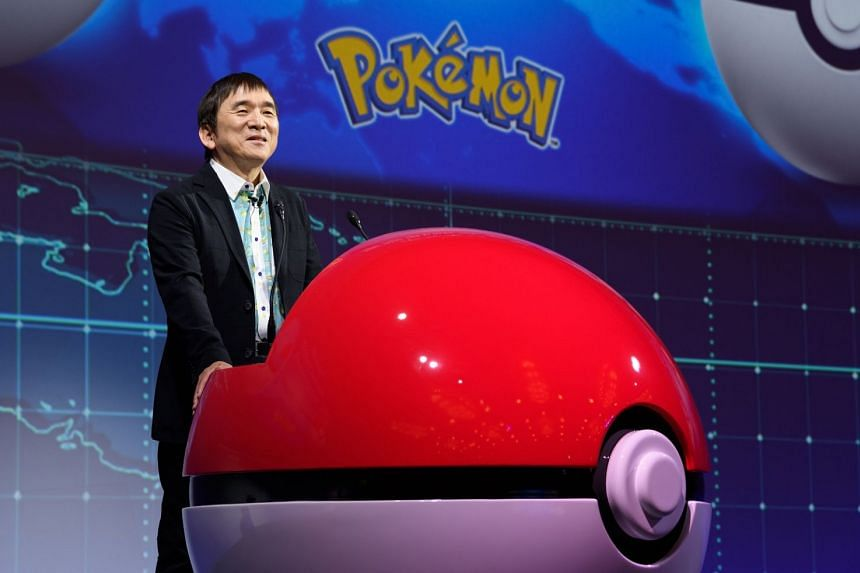 Mr Tsunekazu Ishihara, chief executive officer of The Pokemon Company, speaking at an event in Tokyo yesterday. The company unveiled several initiatives, including a Detective Pikachu sequel for the Switch console.