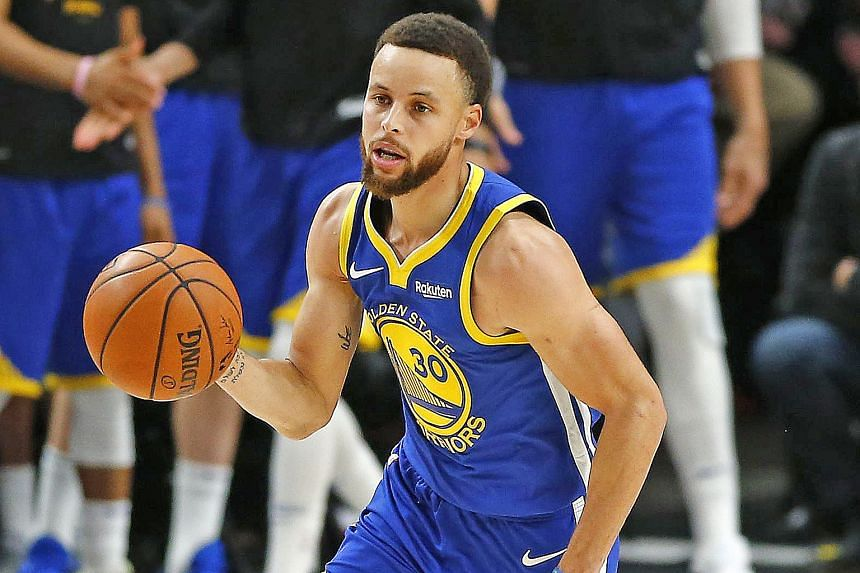 Stephen Curry (above) is just one of many stars in the Golden State Warriors' line-up.