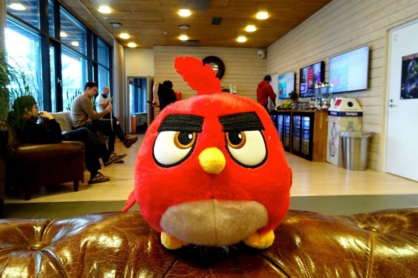 An Angry Birds game character is seen at the Rovio headquarters in Espoo, Finland.