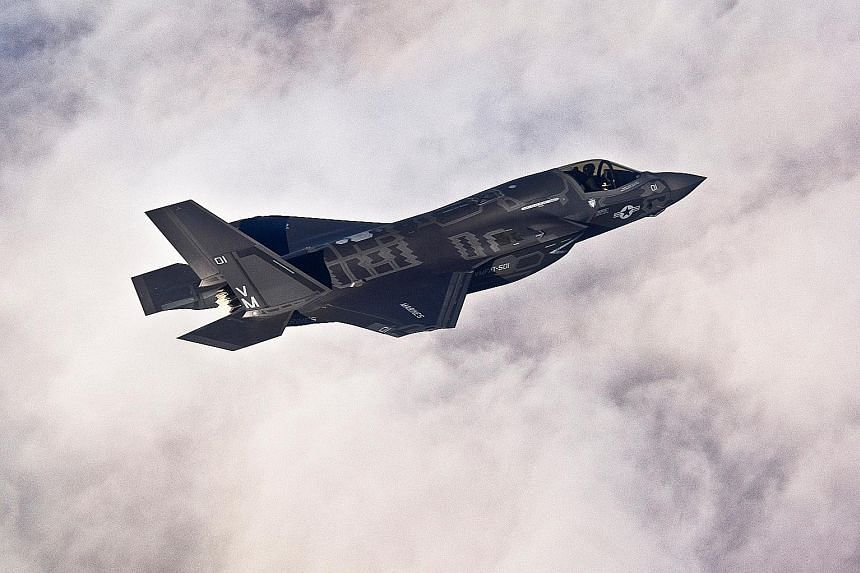 The Lockheed Martin F-35B Joint Strike Fighter, considered to be one of the world's most sophisticated, manoeuvrable and stealthy fighter jets, requires approximately 417kg of rare earth materials each. PHOTO: REUTERS