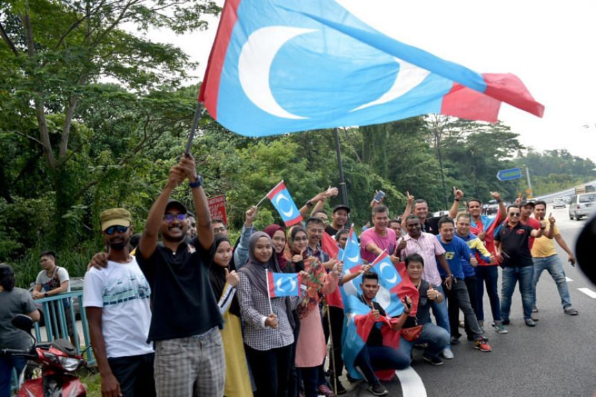 Pakatan Harapan supporters outside Istana Negara on May 10, 2018, when Tun Dr Mahathir Mohamad was being sworn in as Prime Minister.