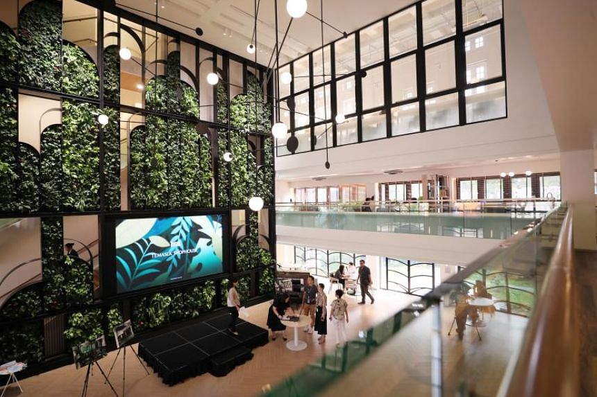 The Temasek Shophouse is a 25,000 sq ft co-working hub set up by investment company Temasek as a gift for its philanthropic arm, Temasek Trust.