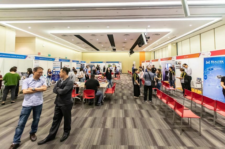 The Workforce 4.0 Career and Training Fair at the Devan Nair Institute for Employment and Employability on May 31, 2019.