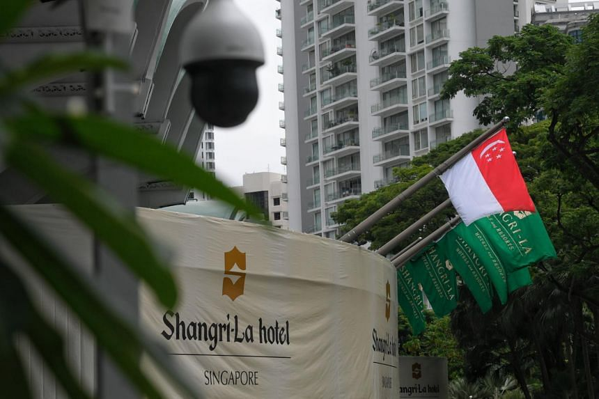 The three-day dialogue, to be held at the Shangri-La hotel, comes at a time of heightened trade tensions between Washington and Beijing.