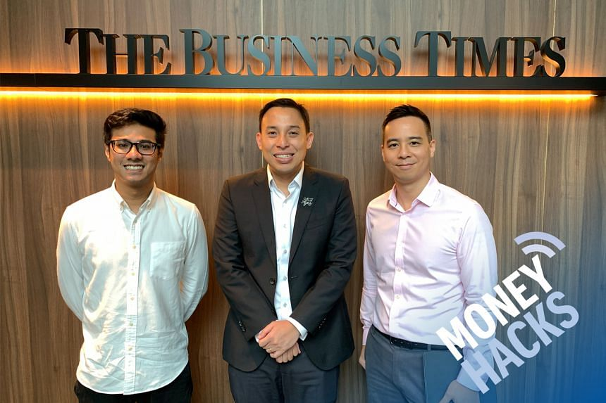 In this sponsored Money Hacks podcast aimed at 20-somethings who haven't figured out their prime insurance needs, Chris Lim (right) hosts 29-year-old Navin Sregantan (left), a journalist at The Business Times and Mr Kelvin Goh (centre), OCBC Bank's