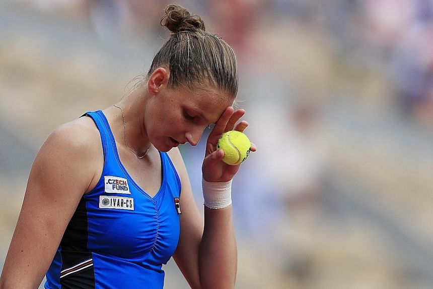 Karolina Pliskova exited the French Open after losing 6-3, 6-3 to Petra Martic yesterday. Also out of the tournament are fourth seed Kiki Bertens, fifth seed Angelique Kerber and sixth seed Petra Kvitova.