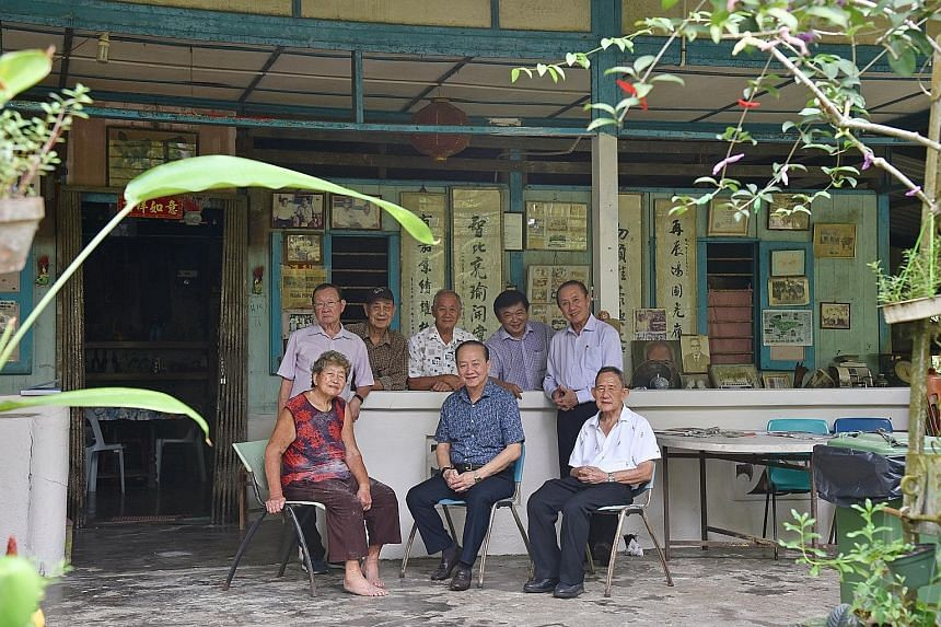 Ubin residents, past and present (clockwise from left): Ms Chen Xiuzhen, 80, daughter-in-law of former village chief Lin Zaiyou; Mr Lai Bi Chong, 79, former school teacher; Mr Huang Jinshui, 80, former quarry manager; Mr Chu Yok Choon, 74, present-day vil