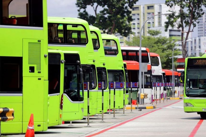 Buses seen at the Jurong East bus interchange.