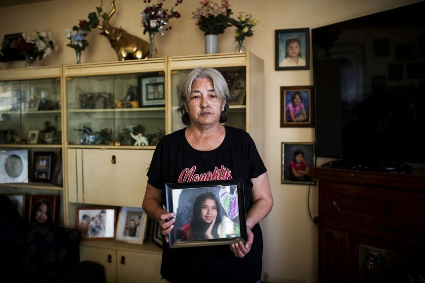 Tina Fontaine's great-aunt, Thelma Favel, who cared for her as a foster parent in Powerview, Manitoba, Canada, May 12, 2019. Tina's death in 2014 — and the acquittal of a white man in her killing — was one of an increasing number of deaths and