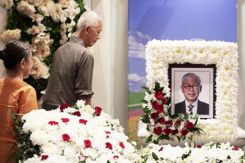 The wake of Mr Tjong Yik Min at Singapore Funeral Parlour on June 1, 2019.