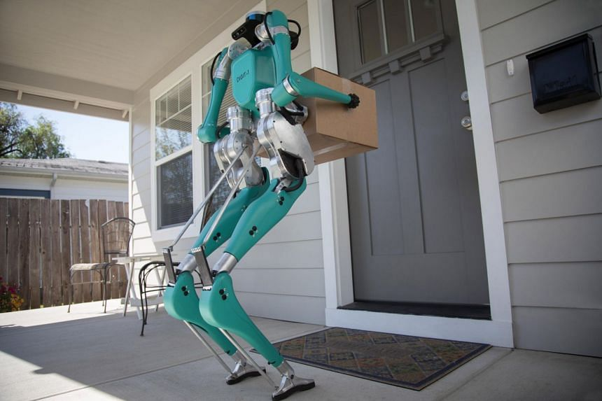 Ford partners Agility Robotics to use two-legged robots for deliveries.