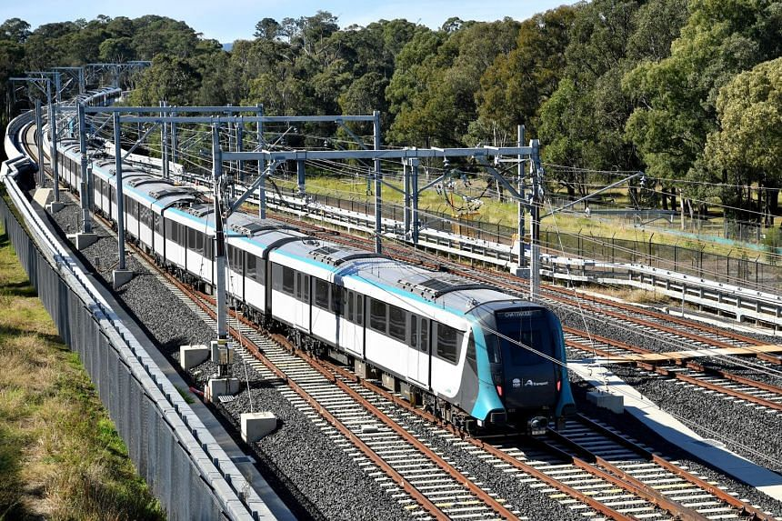 """A Sydney Metro Northwest train. Within a week of the rail line's opening, there have been reports of rogue trains, malfunctioning doors and a power failure. However, the New South Wales state government has insisted that such issues are """"to be expect"""