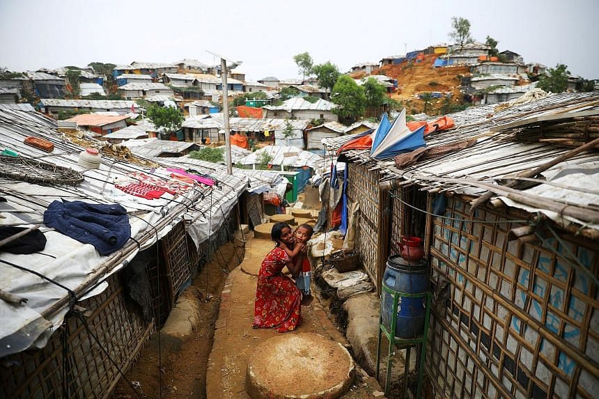 """Rohingya children at a refugee camp in Cox's Bazar, Bangladesh. Malaysian Defence Minister Mohamad Sabu highlighted the large movement of Rohingya refugees as a regional challenge, saying: """"No longer is the situation in Rakhine (in Myanmar) a domesti"""