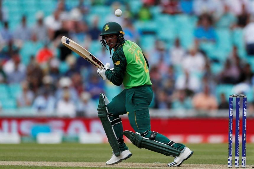 South Africa's Quinton de Kock in action during the 2019 Cricket World Cup group stage match between England and South Africa at The Oval in London, on May 30, 2019.