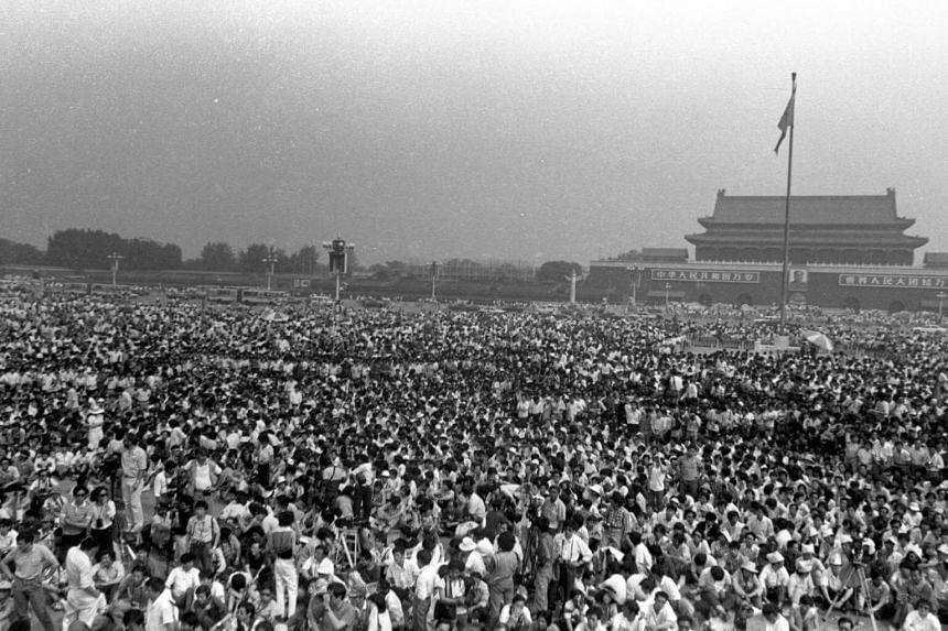 Tiananmen Square Protest in Beijing in 1989.