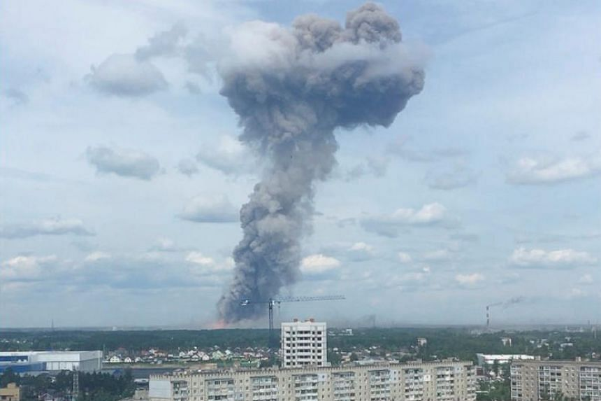 IMG EXPLOSION AT RUSSIAN PLANT