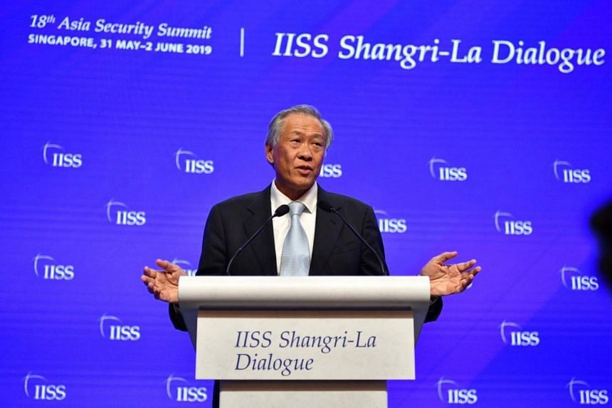 """Defence Minister Ng Eng Hen was speaking at a session on the topic """"Ensuring a Resilient and Stable Region"""" on the final day of the Shangri-La Dialogue, which had opened on Friday."""