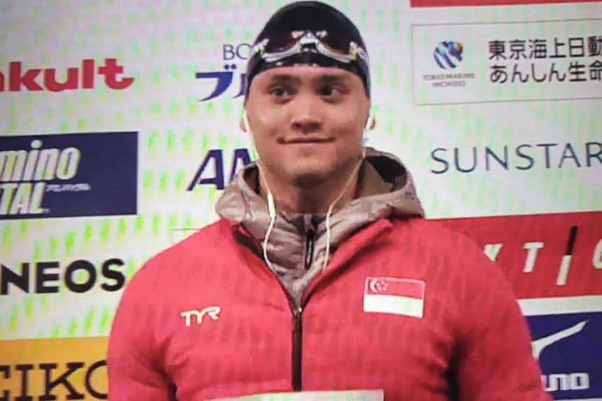 Joseph Schooling's timing was an improvement on the 52.70 at the Singapore National Age Group Swimming Championships in March, but still some way off the Olympic and national record of 50.39 he set in Rio 2016.