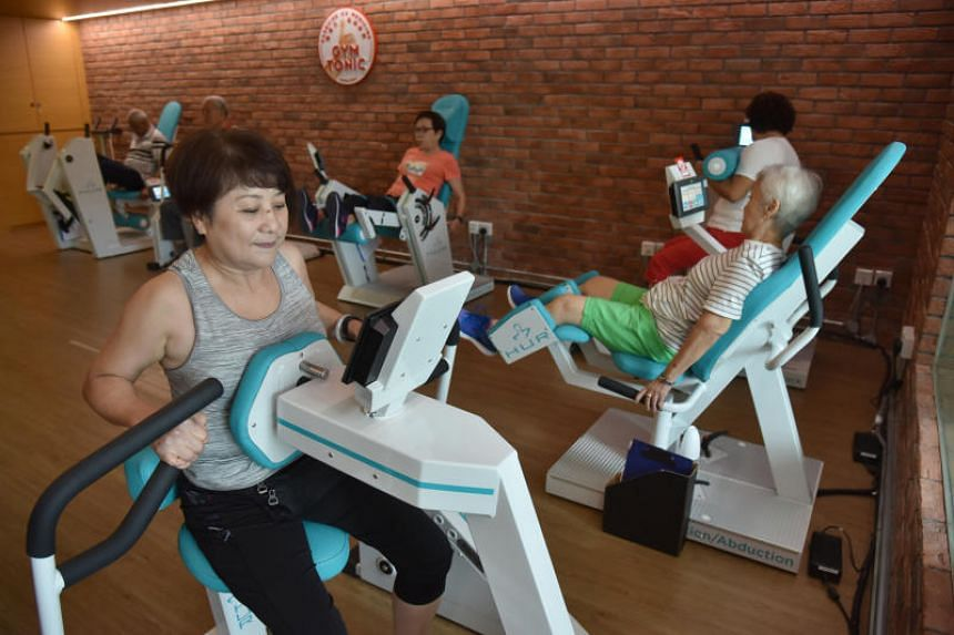 The new hub houses a day rehabilitation centre and runs philanthropic organisation Lien Foundation's Gym Tonic, which is a customised strength-training programme for seniors.