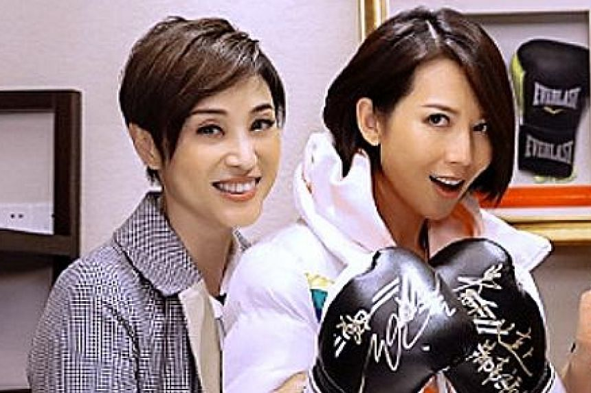Hong Kong actress Monica Chan (left) broke into tears on a Chinese variety show as she recalled how actress Ada Choi (right) had blasted her when the media trailed her to Choi's wedding venue in 2008.