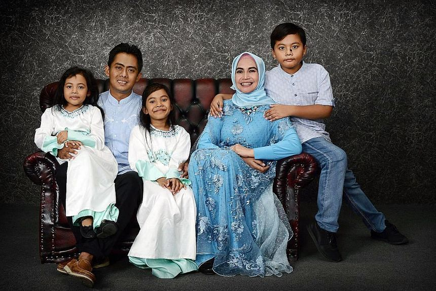 Mr Aditya, in a photograph taken earlier with his wife Dewi and their children (from left) Bianca Indira, Calista Zora and Junot Arthaf.