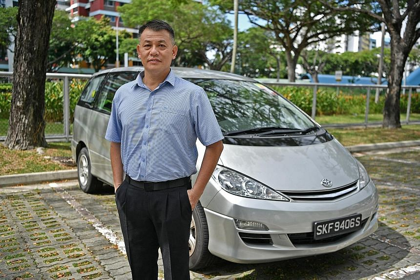 Mr Chng Pia Kim (left), who drives a Toyota Previa, says his licence plate number was used by another car, a Toyota Estima, travelling in Malaysia. The other car, seen in the image above captured by a speed camera in Malaysia, chalked up three speedi