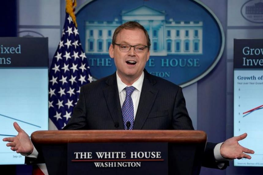 White House Council of Economic Advisers Chairman Kevin Hassett at a news briefing at the White House in Washington, on Sept 10, 2018.