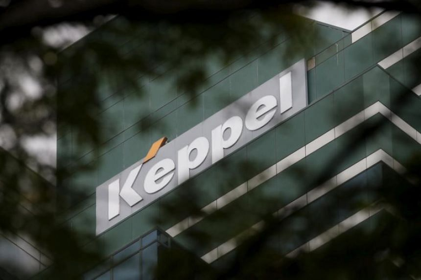 A Keppel Corporation logo pictured at one of their properties in Singapore, on Jan 12, 2016.