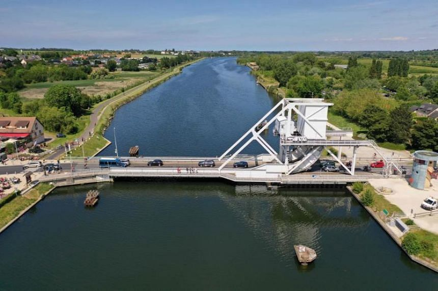The man had tried to swim across a canal late Saturday night near Pegasus Bridge, the first site freed from the Germans by British troops during the massive Allied invasion in June 1944.