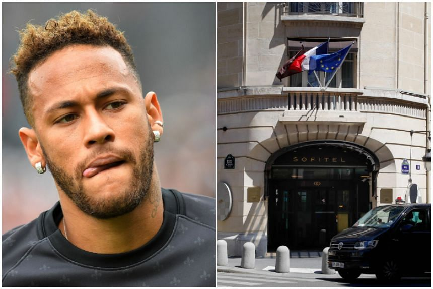 Brazil and Paris Saint-Germain forward Neymar on Sunday (June 2), denied raping a woman who accused him of sexually assaulting her at the Paris Sofitel Hotel (right), with his father claiming he is a victim of blackmail.