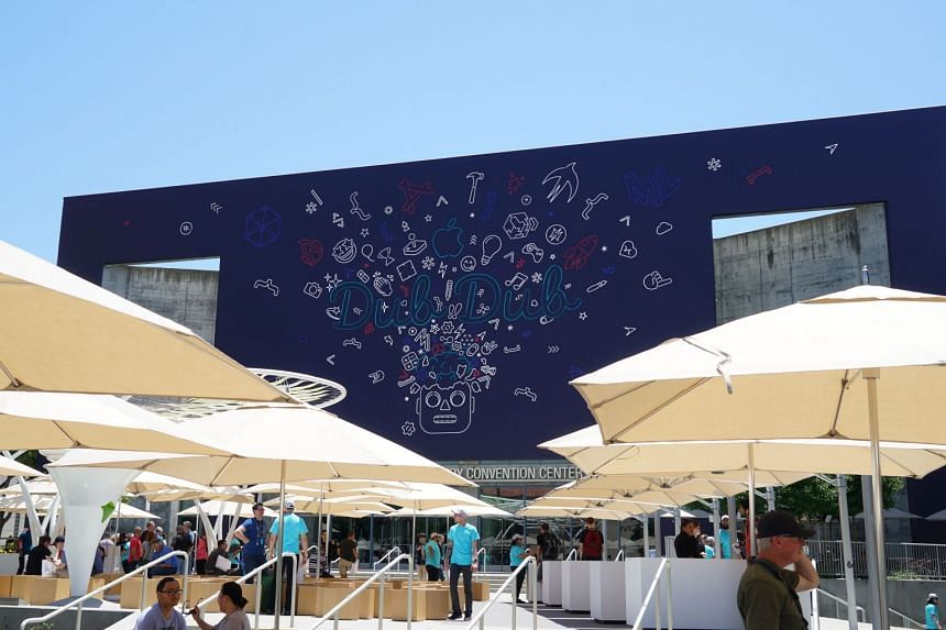 The San Jose McEnery Convention Centre's facade has been decorated with Apple's Worldwide Developer Conference (WWDC) motifs. WWDC 2019 will kick off on Monday (June 3, United States time) with a keynote address here.