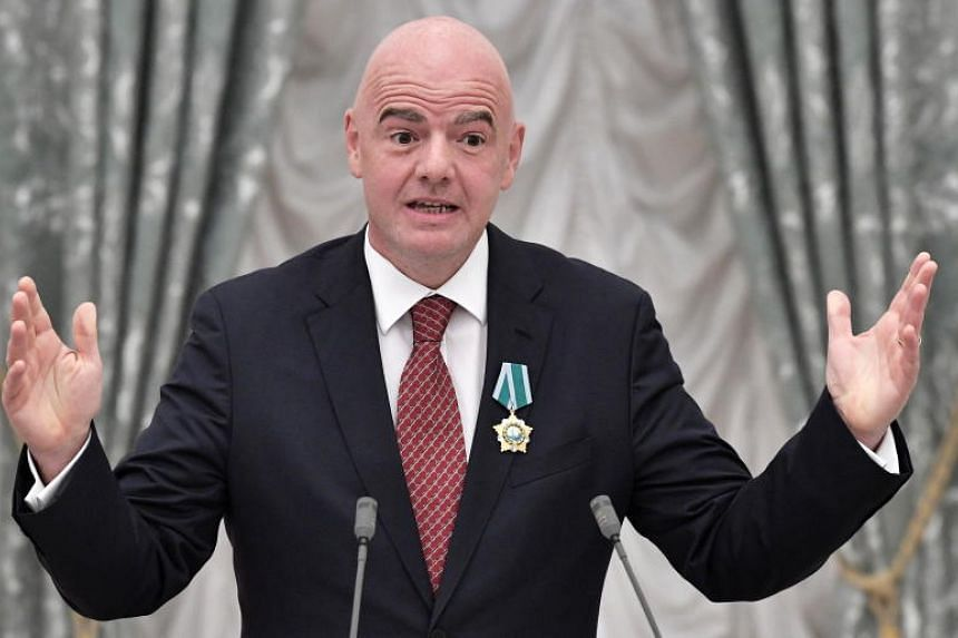 Fifa president Gianni Infantino (above) was a good lawyer in his job at Uefa but had criticised Fifa for 10 years, former Uefa president Michel Platini said.
