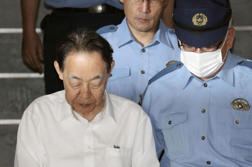 Tokyo metropolitan police said they arrested Hideaki Kumazawa, 76, on June 1 for attempted murder for allegedly stabbing his son with a knife.