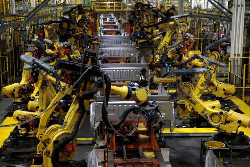 US factories reported the weakest output growth last month since August 2016 with a production index reading of 51.3, down from 52.3 in April.