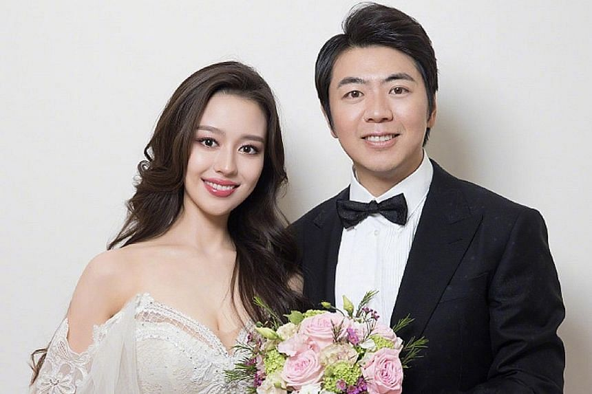 """LANG LANG FINDS HIS ALICE: World-renowned Chinese pianist Lang Lang announced his marriage to 24-year-old pianist Gina Alice Redlinger (both left) on his official Weibo account on Sunday. """"I found my Alice. She is Gina Alice,"""" wrote Lang, 36, along"""