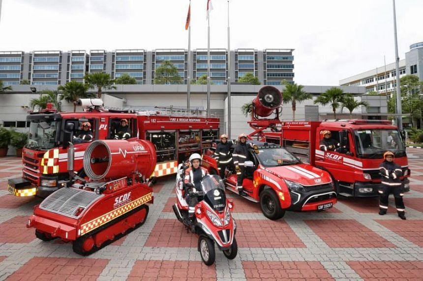 In addition to ambulances, SCDF fire engines, Red Rhino fire trucks and fire-medical vehicles responding to emergencies are exempted from laws under the Road Traffic Act.