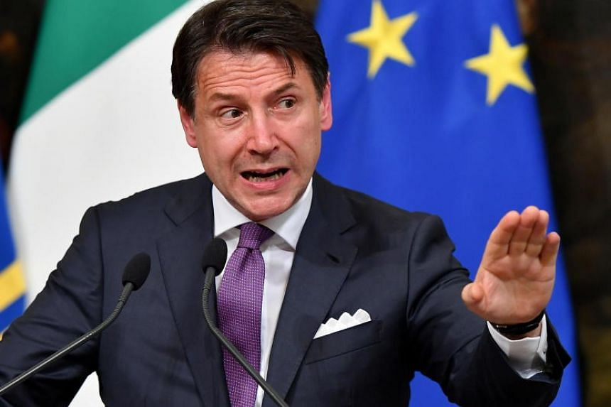 Italian Prime Minister Giuseppe Conte told reporters his government faced a complex 2020 budget process later this year and that the country needed the confidence of financial markets.